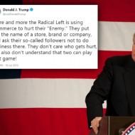 Trump criticises left-leaning brand boycotts