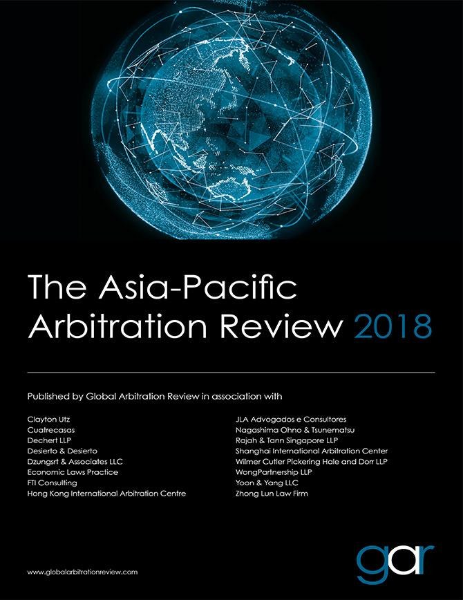 The Asia-Pacific Arbitration Review 2018