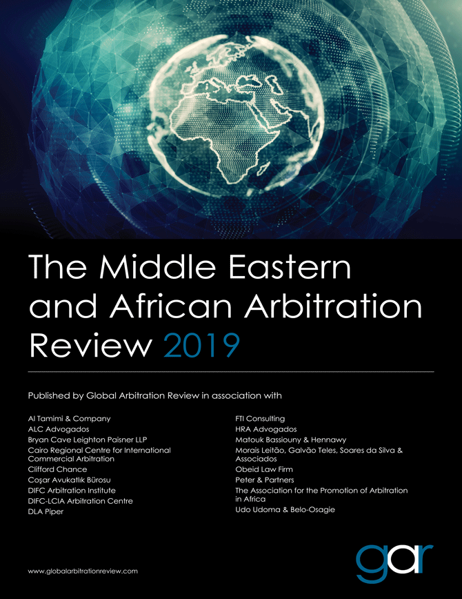The Middle Eastern and African Arbitration Review 2019