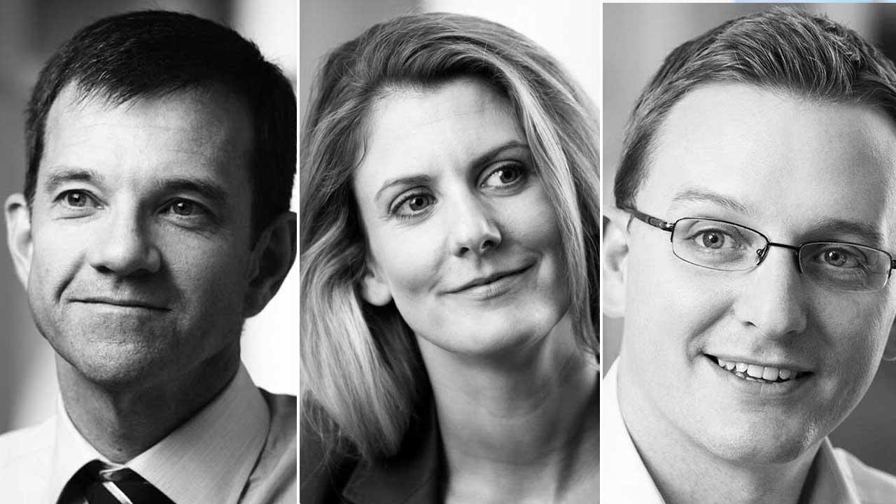 Left to right: Brett Lunn (managing partner), Madeleine Kelly (partner) and Steve Gledhill (partner