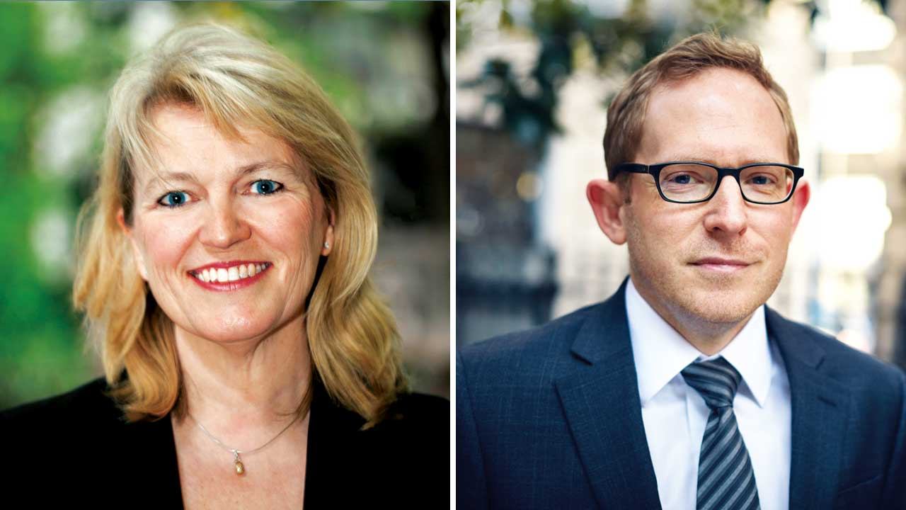 Penny Gilbert and Peter Damerell, partners