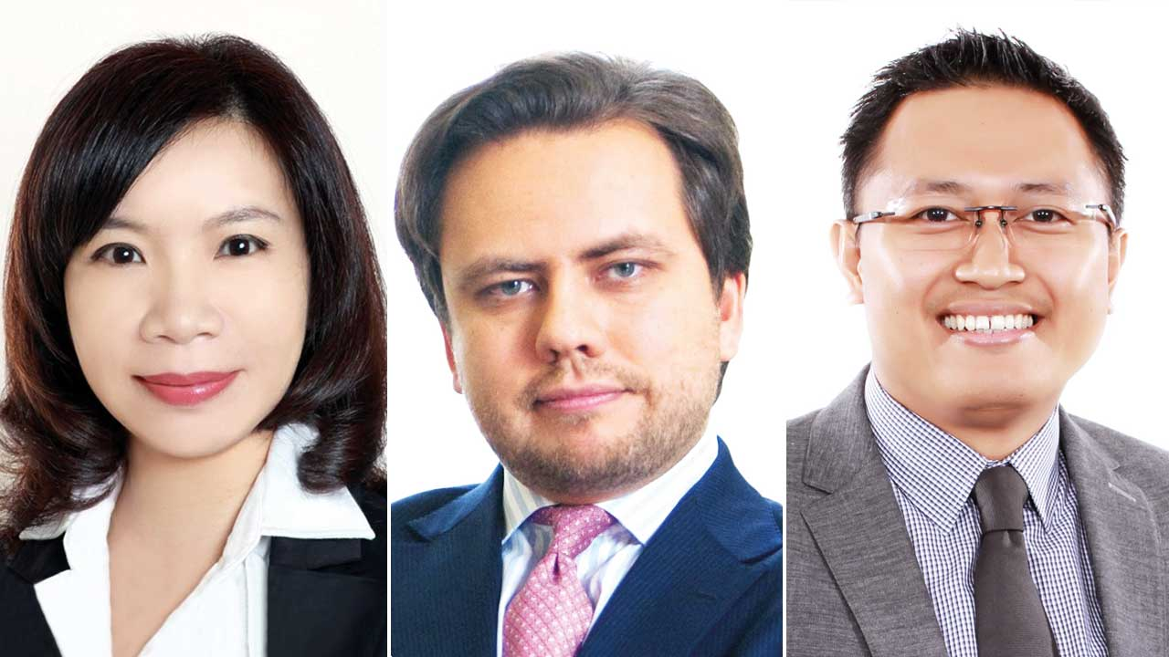 Left to right: Grace Shao, Denis Khabarov and Daru Lukiantono, partners