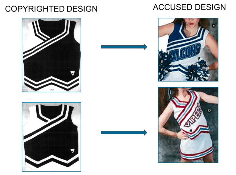 Figure 1: Varsity and Star Athletica designs