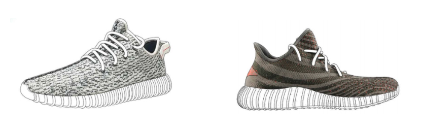Figure 2: Yeezy Boost 350 line of trainers