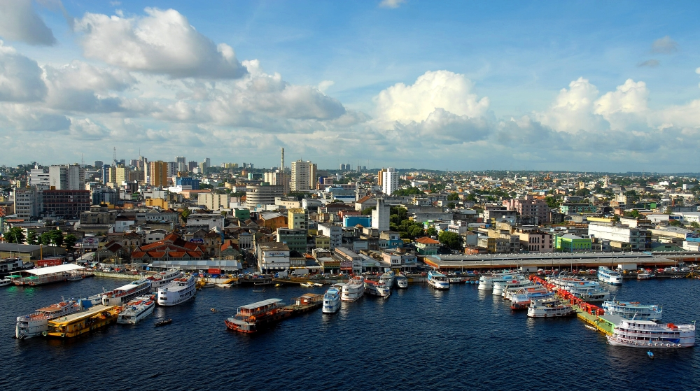 Manaus is the capital city of the Brazilian state Amazonas