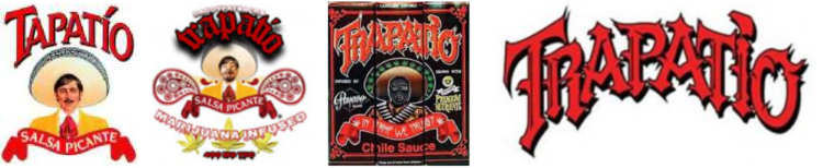 L-R: TAPATIO mark, infringing Granados and Ponce marks, and Trademark Application 264