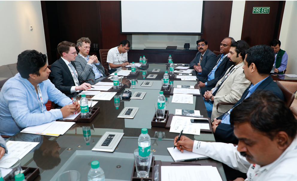 The full roundtable. From left, clockwise: Gyanveer Singh of Tivo, Jacob Schindler of IAM, Alexander van Eeuwijk of Signify, Balwant Rawat of Daimler India, Lakshminarayanan R of Samsung Electronics, Senthil Kumar of ABB, Vaibhav Henry of Sagacious IP, Ni